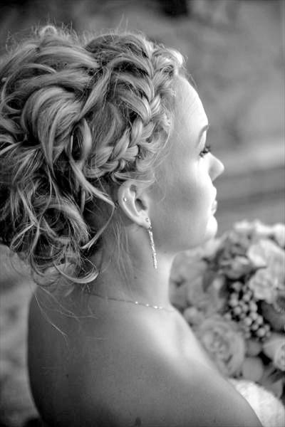 frizura pletenica vjencanje posebne prilike